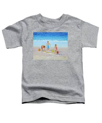 Beach Painting - Sandcastles Toddler T-Shirt