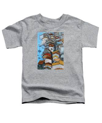 Boats In Front Of The Buildings Iv Toddler T-Shirt