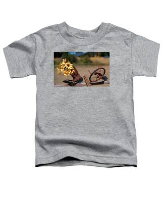 Boot With Flowers Toddler T-Shirt
