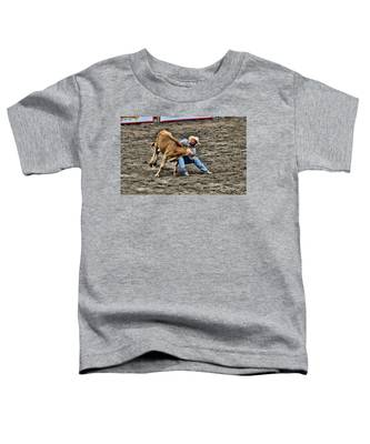 Bull Dogging Toddler T-Shirt