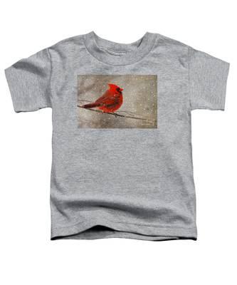 Cardinal In Snow Toddler T-Shirt