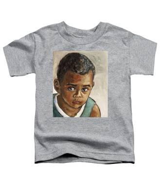 Curious Little Boy Toddler T-Shirt
