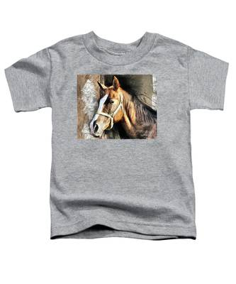 Horse Portrait - Drawing Toddler T-Shirt