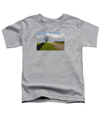 Kentucky Horse Farm Road Toddler T-Shirt
