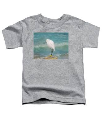 One With Nature - Snowy Egret Toddler T-Shirt