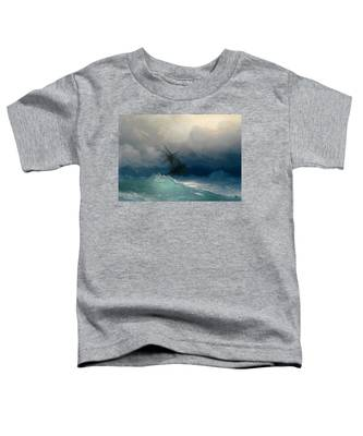 Ship On Stormy Seas Toddler T-Shirt
