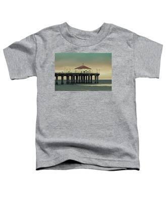 Vintage Manhattan Beach Pier Toddler T-Shirt