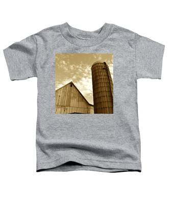 Barn And Silo In Sepia Toddler T-Shirt