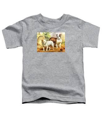 English Bulldogs Toddler T-Shirt