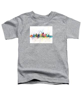 St Louis Missouri Skyline Toddler T-Shirt