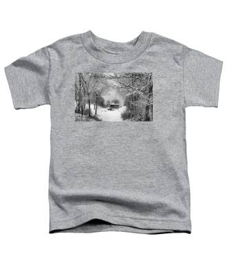 A Winter's Tale In Centerport New York Toddler T-Shirt