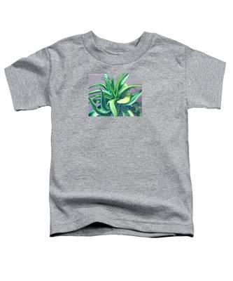 Aloe Vera Watercolor Toddler T-Shirt