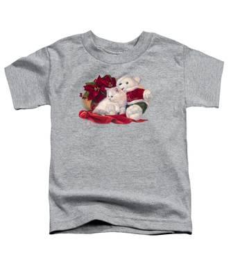 Christmas Kitten Toddler T-Shirt