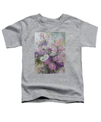 Asters And Stocks Toddler T-Shirt