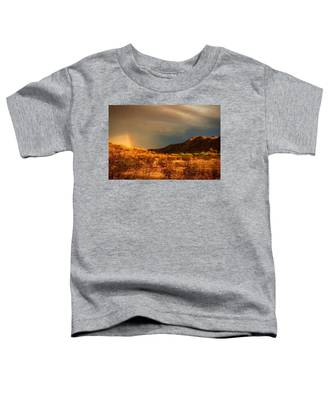 Toddler T-Shirt featuring the photograph Beyond The Rainbow by Judy Kennedy