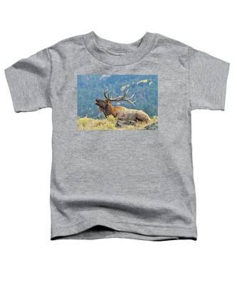 Bull Elk Bugling Toddler T-Shirt