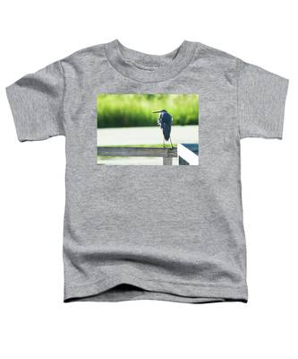 Early Morning Great Blue Heron Toddler T-Shirt