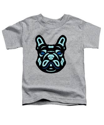 French Bulldog Francis - Dog Design - Hazelnut, Island Paradise, Lapis Blue Toddler T-Shirt by Manuel Sueess