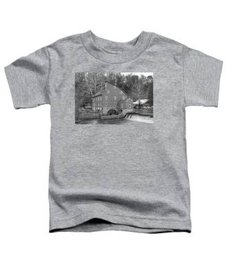Gray Autumn At The Old Mill In Clinton Toddler T-Shirt