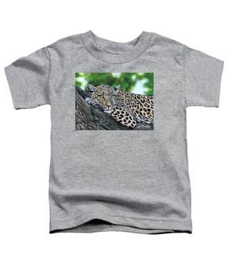 Leopard On Branch Toddler T-Shirt