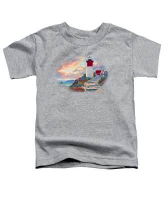 Lighthouse At Sunset Toddler T-Shirt
