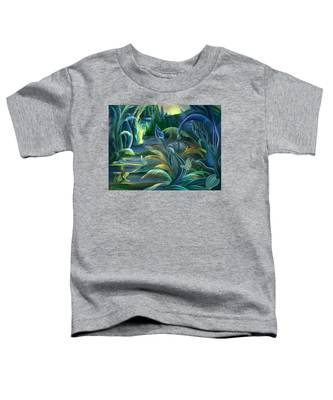 Mural  Insects Of Enchanted Stream Toddler T-Shirt