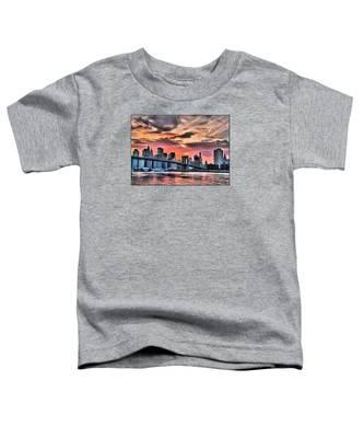 New York Sunset Toddler T-Shirt