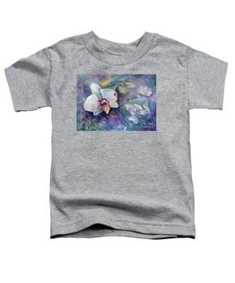 Phalaenopsis Orchid With Hyacinth Background Toddler T-Shirt