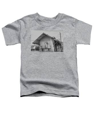 Pompton Plains Railroad Station And Baggage Cart Toddler T-Shirt