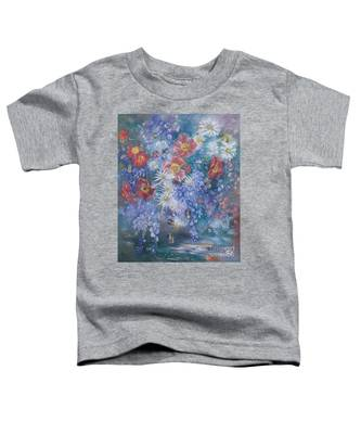 Poppies, Wisteria And Marguerites Toddler T-Shirt