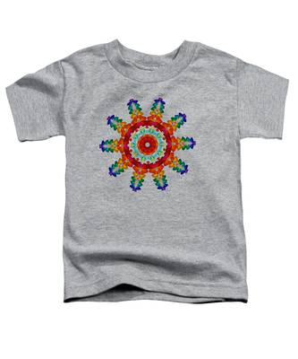 Rainbow Steampunk Sun Fractal Toddler T-Shirt