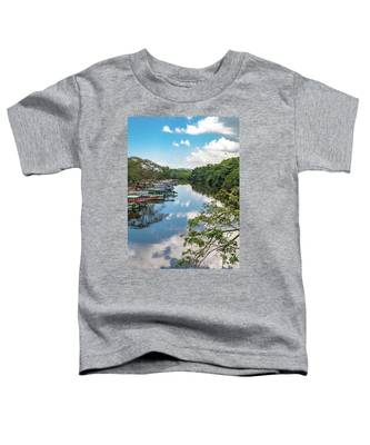 River Boats Docked In Negril, Jamaica Toddler T-Shirt