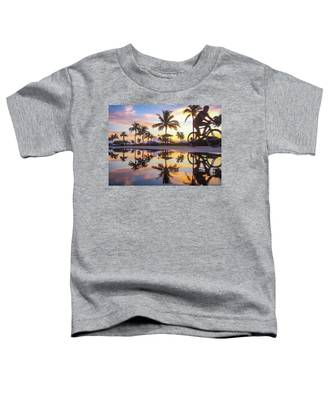 Sunrise Cyclist Delray Beach Florida Toddler T-Shirt