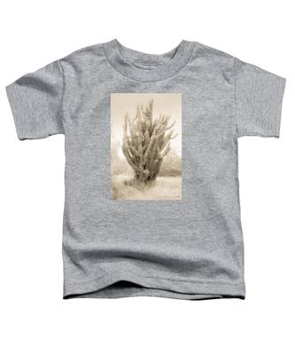 Tall Cactus In Sepia Toddler T-Shirt