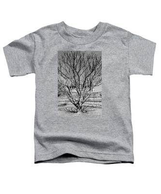 Tree And Temple Toddler T-Shirt
