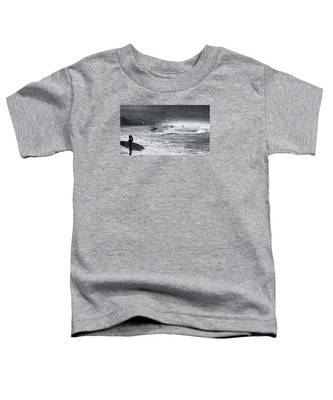 Waiting For The Surf By Mike-hope Toddler T-Shirt