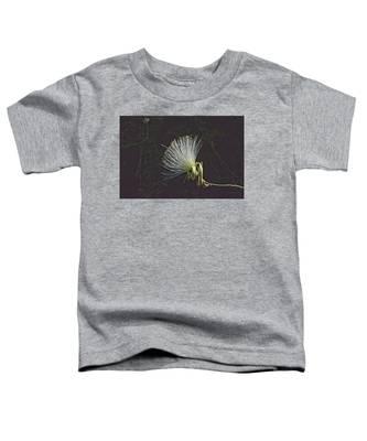 White Shaving Brush Pseudobombax Flower Toddler T-Shirt