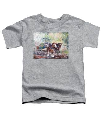 Working Clydesdale Pair, Victoria Breweries. Toddler T-Shirt