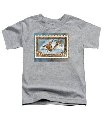 1934 Hunting Stamp Collage Toddler T-Shirt
