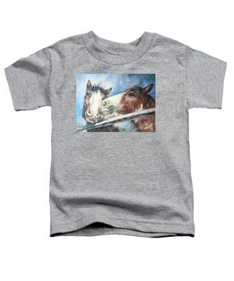 Clydesdale Pair Toddler T-Shirt