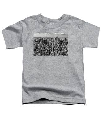 New York City Black White Toddler T-Shirt