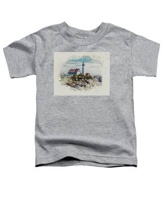 Portland Head Lighthouse Cape Elizabeth Maine Toddler T-Shirt