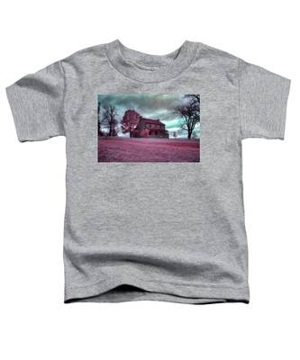 Rose Farm In Infrared Toddler T-Shirt