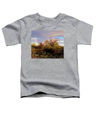 Toddler T-Shirt featuring the photograph Sonoran Desert Spring Rainbow by Judy Kennedy