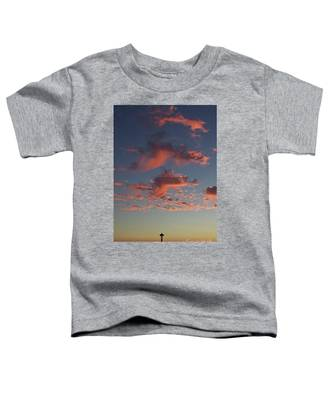 Space Needle And Pink Clouds Toddler T-Shirt