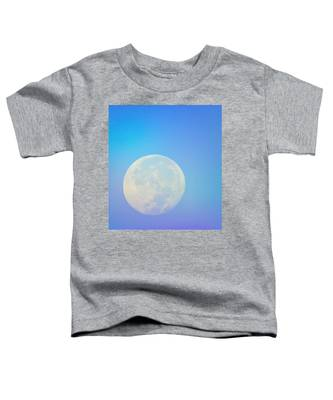 Toddler T-Shirt featuring the photograph Taurus Almost Full Moon Blend by Judy Kennedy
