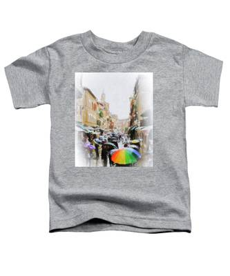 Venice In The Rain Toddler T-Shirt