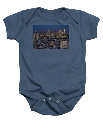 Tel Aviv At The Twilight Magic Hour Baby Onesie