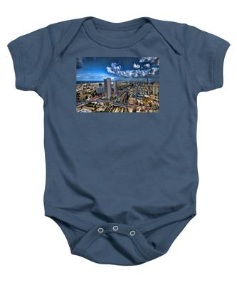 Tel Aviv Center Skyline Baby Onesie
