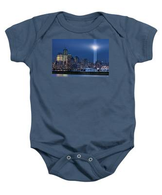 Ground Zero Tribute Lights And The Freedom Tower Baby Onesie